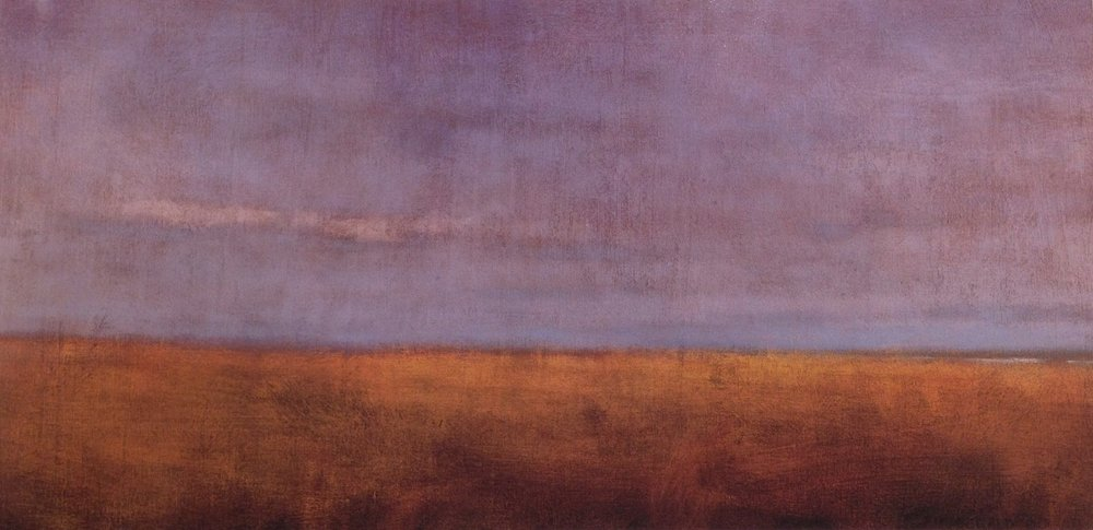 Ocean Fields  - 18 x 36 - Oil on Canvas - 2000. Private Collection
