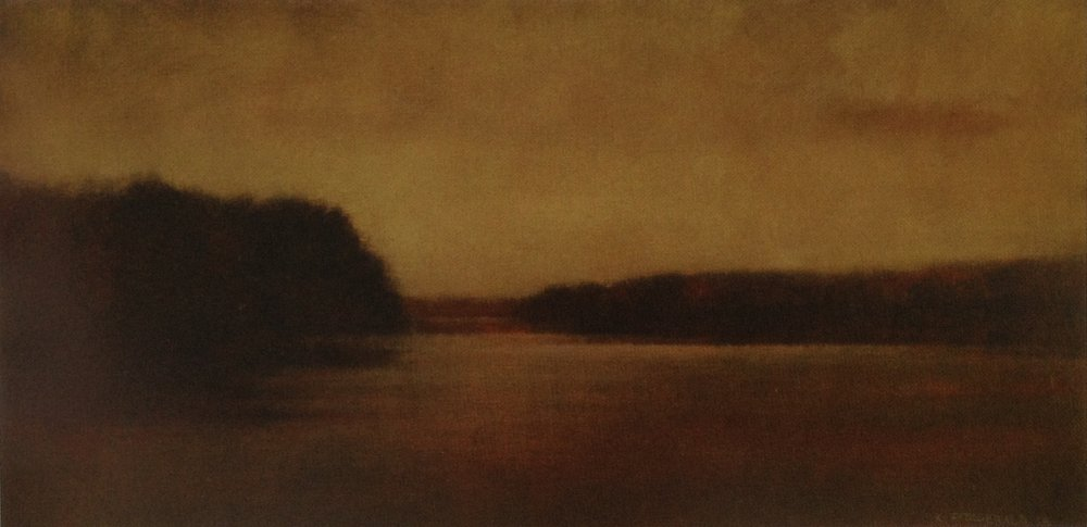 Inlet Twilight  - 18 x 36 inches - Oil on Canvas - 2006. Collection of John & Tracy Collins