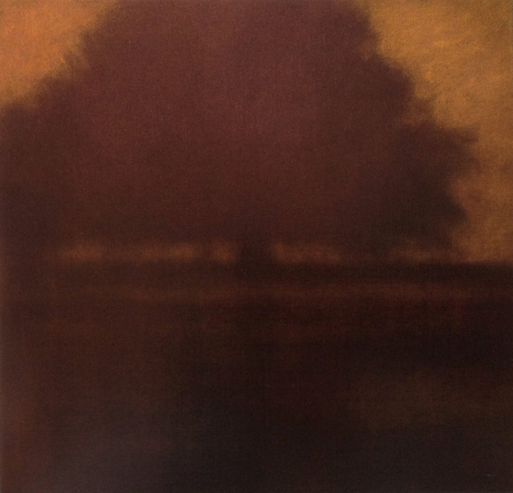 Twilight Orchard  - 40 x 40 - Oil on Canvas - 2007. Collection of Joseph & Michele Deshields