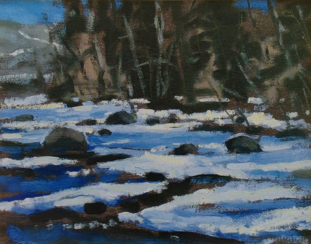 Beaver Creek  - 9 x 11 inches - Oil on Canvas - 2004. Private Collection