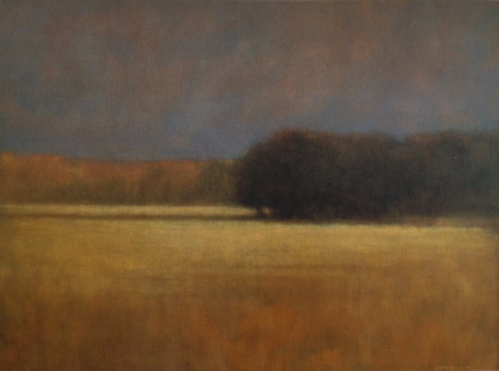 Inlet Fields  - 36 x 48 inches - Oil on Canvas - 2004. Private Collection