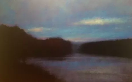 Kevin Fitzgerald, Twilight,oil, 30 x 40  Troika Gallery, June 7 - July 16, 2019.