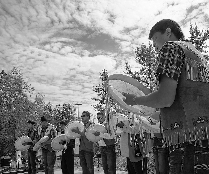 Dene Drummers [Photo credit Fran Hurcomb]