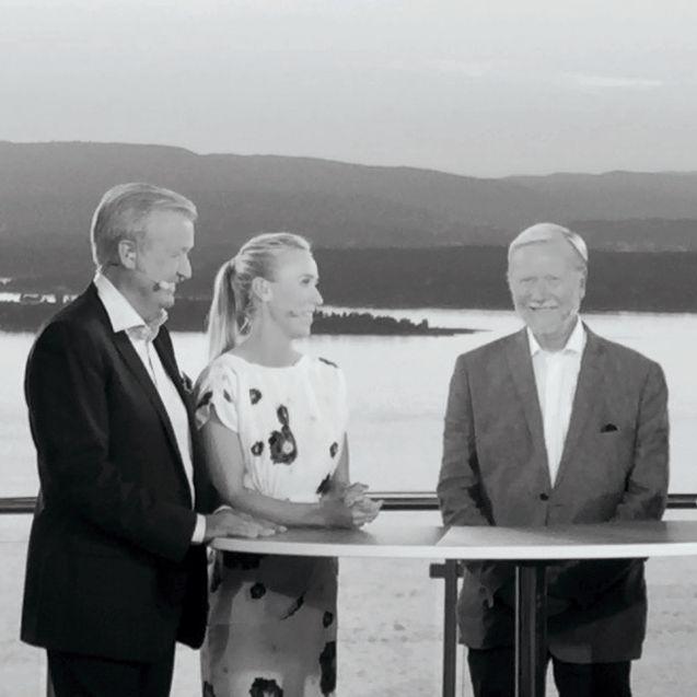 Katharina Flatland,Hallvard Flatland og Sunnaas direktør | Aksjon Sunnaas 2015