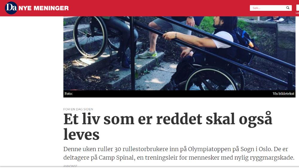 Skjermdump fra Dagsavisen.no