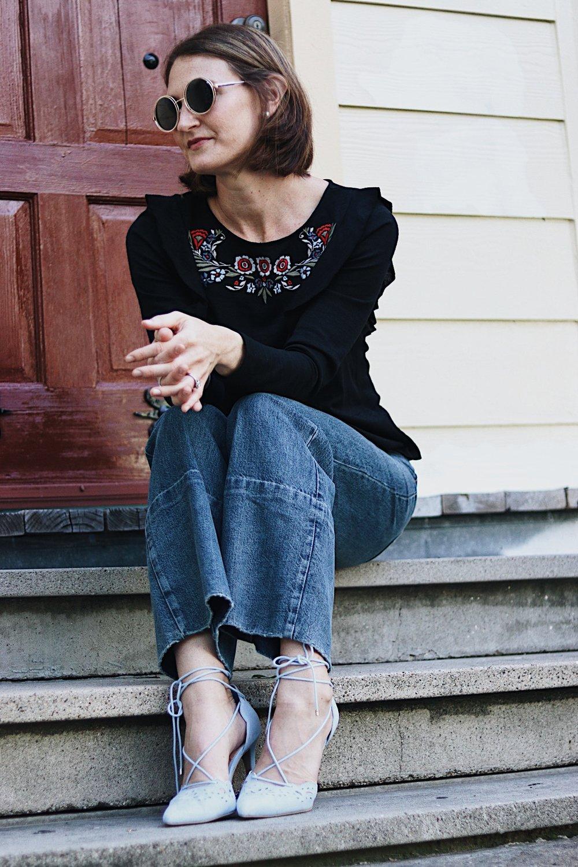 trendy look, 70s look, vintage style