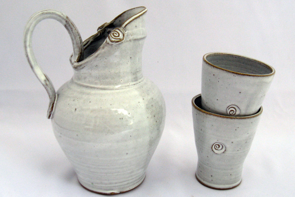 Quaffing Etruscan Style - Pitcher with Cups - Judy Gordon