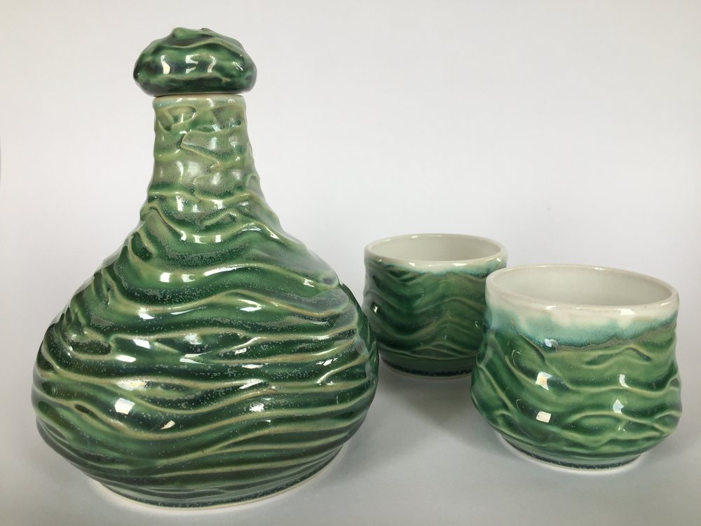 Scotia Ripple Decanter Set - Karyn Hollasch