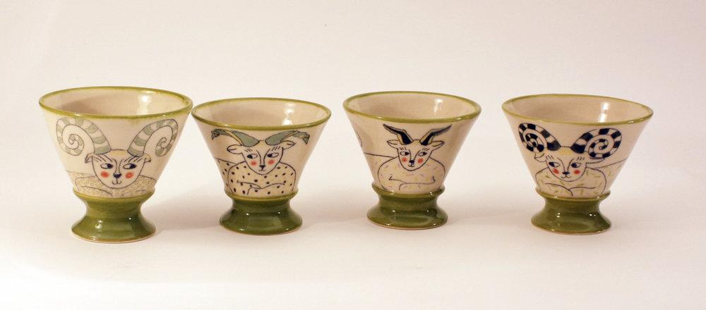 Flirting Creature Cups - Karen Robinson