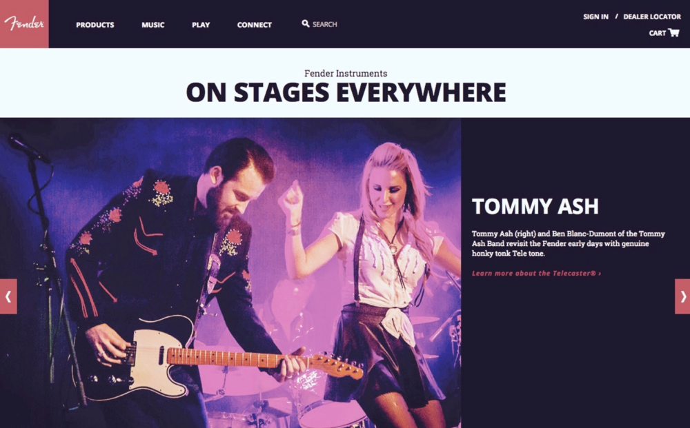 Tommy Ash Ben Blanc-Dumont Fender Website