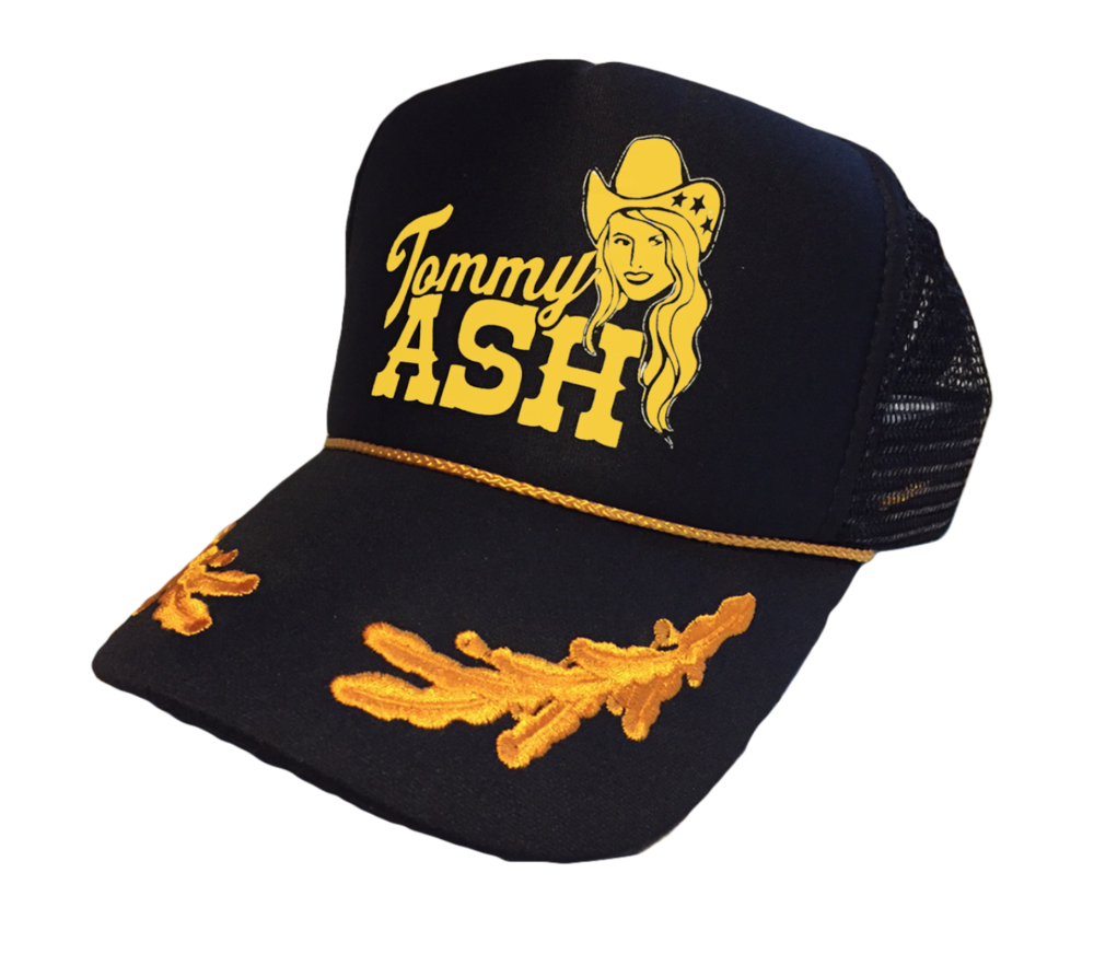 Tommy Ash Logo Trucker Hat - Black \u2014