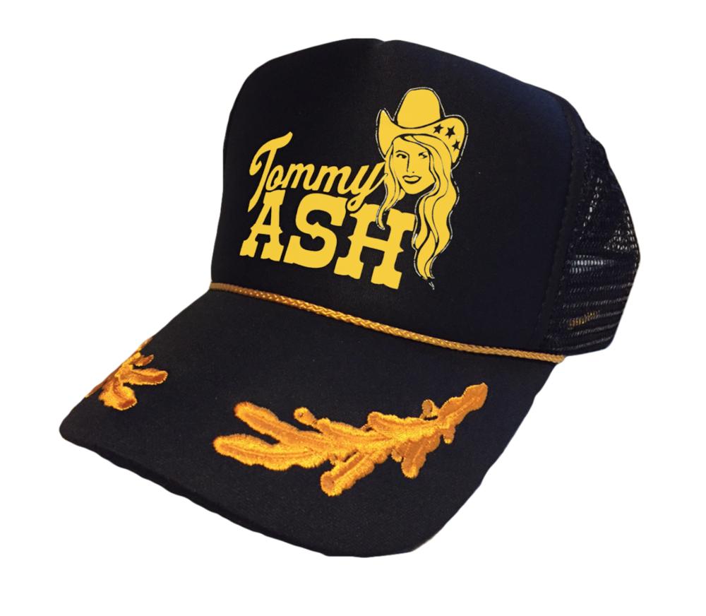 Tommy Ash Logo Trucker Hat - Black \u2014