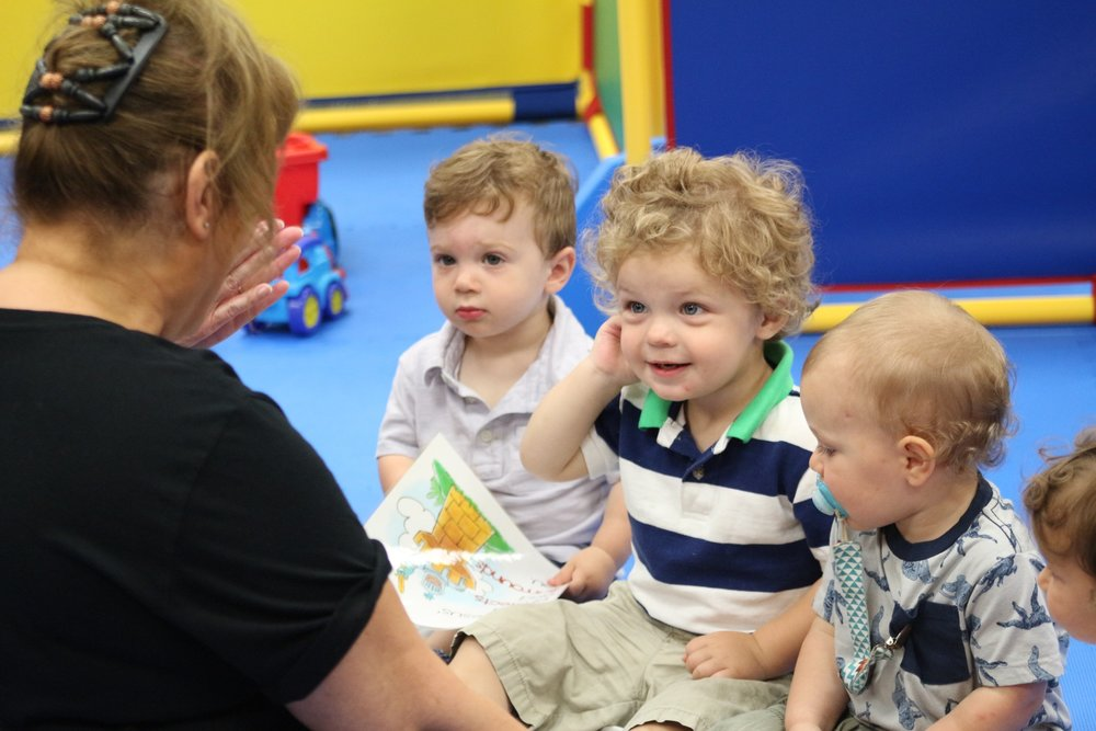 NURSERY   Our nursery room is specially designed for infants and toddlers (ages 2 months - 2 years of age). Your child will love the trained teachers in this classroom and all the fun they have learning about God's love.