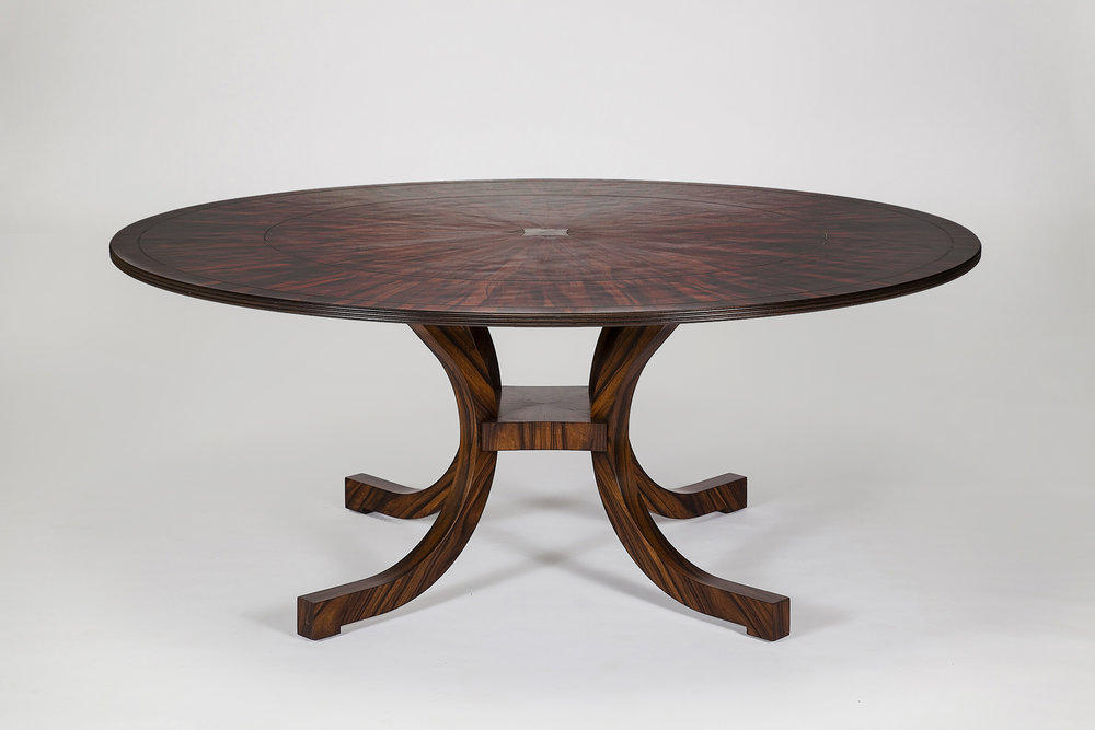W1003-108 ROSEWOOD C-LEG TABLE