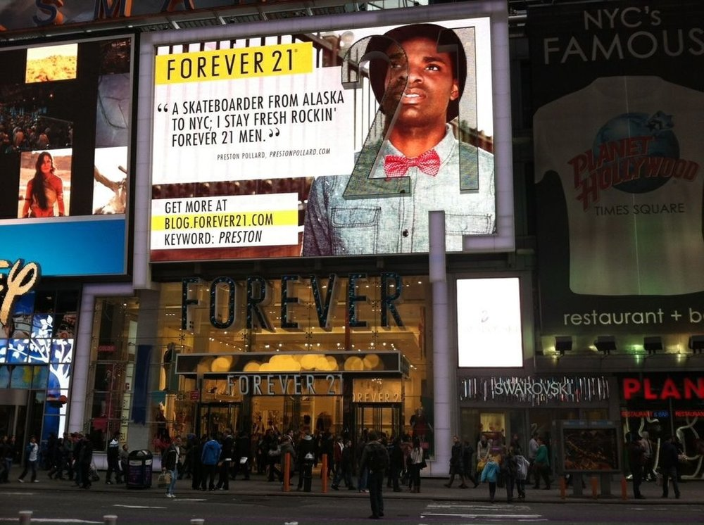 Forever 21 Billboard Times Sqaure NYC
