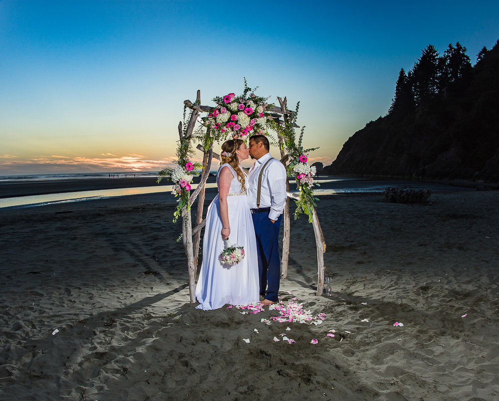 Matt and Laura's Trinidad Intimate Beach Wedding at Moonstone Beach
