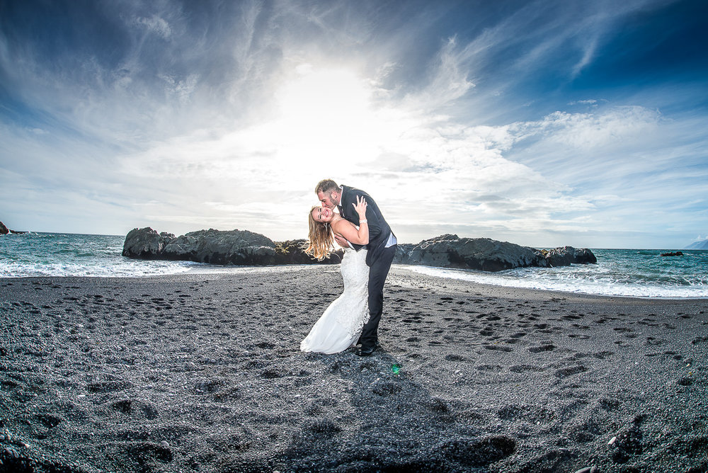 John and Danielle's Intimate Destination Wedding at Little Black Sands Beach in Shelter Cove