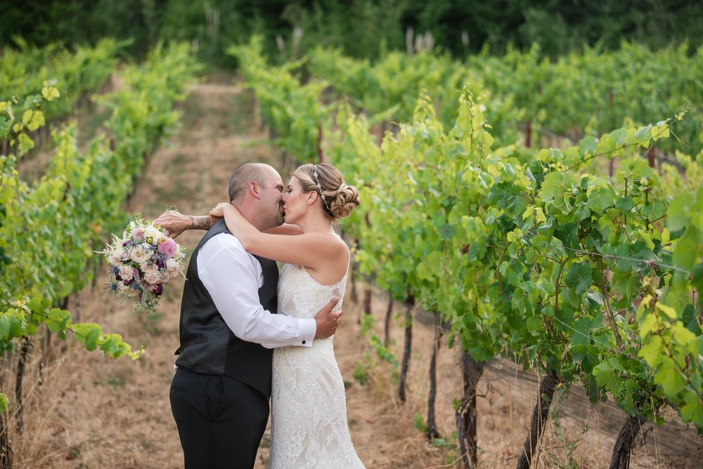 Meras magical wedding at Rosina Vineyards.