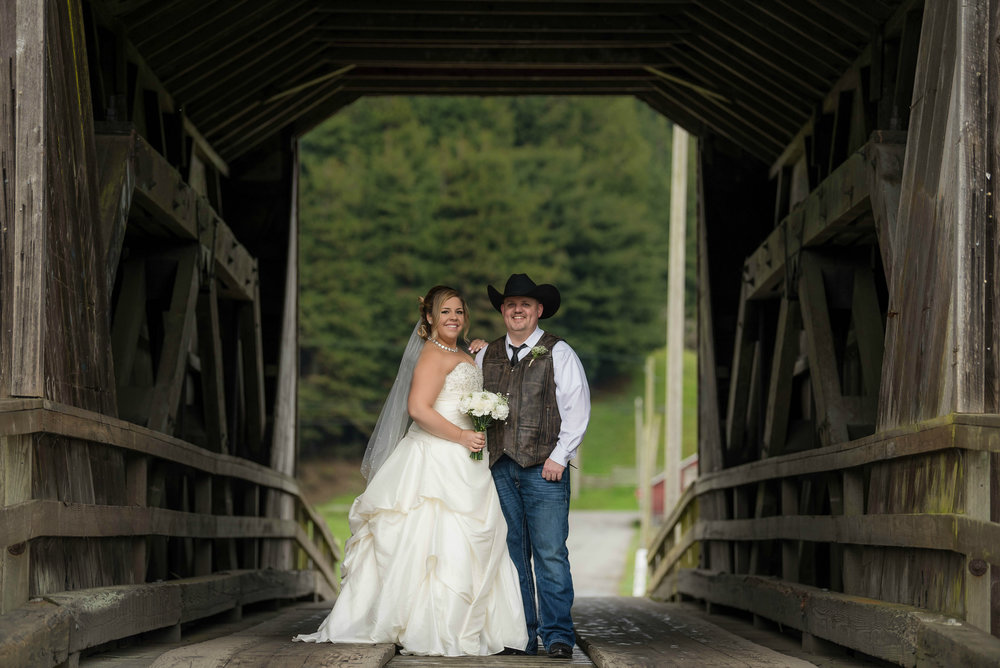 Rob and Nikki's rustic barn wedding on Elk River Road