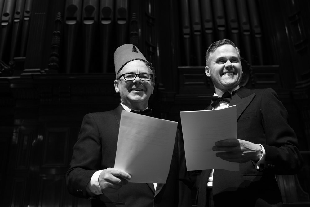 Michael Veitch & Simon Oats performed Mystery in the Air in the Melbourne Town Hall Oct 2016