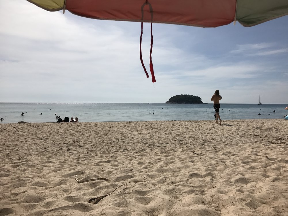 Relaxing on Kata Beach.