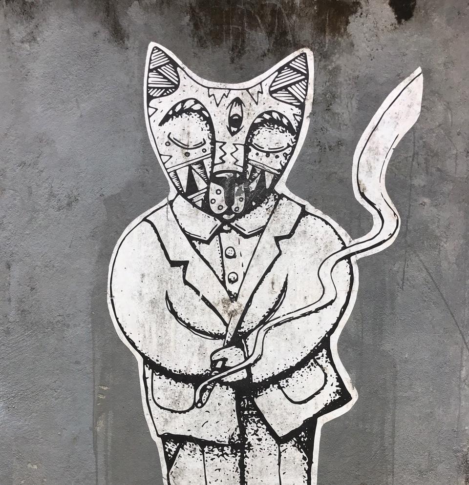 Distinguished Cat Graffiti Canggu Bali Classy.jpg