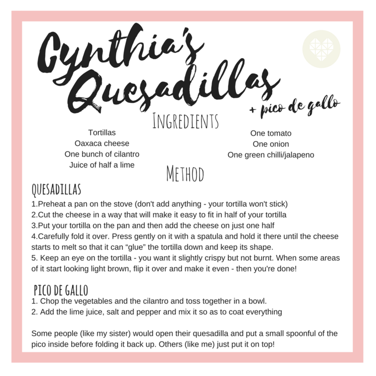Quesadillas for Mexican Independence Day