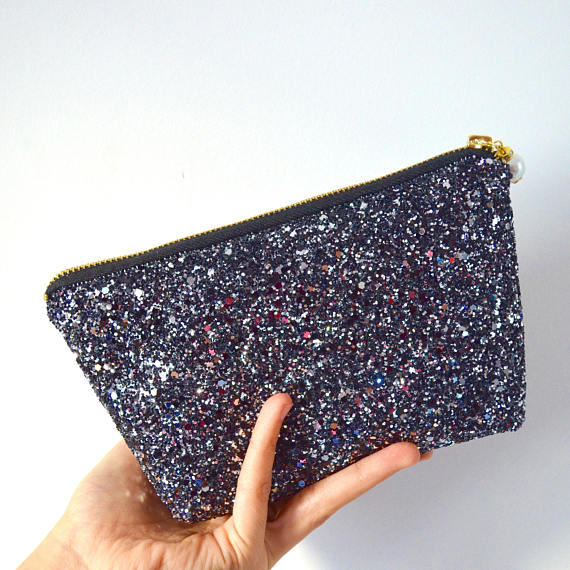 Glitter Makeup Bag Black Bridesmaid Gift.jpg