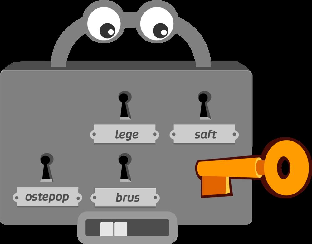 Lytte-testen består av flervalgs-låser der barna kan identifisere ord eller bokstavlyd.