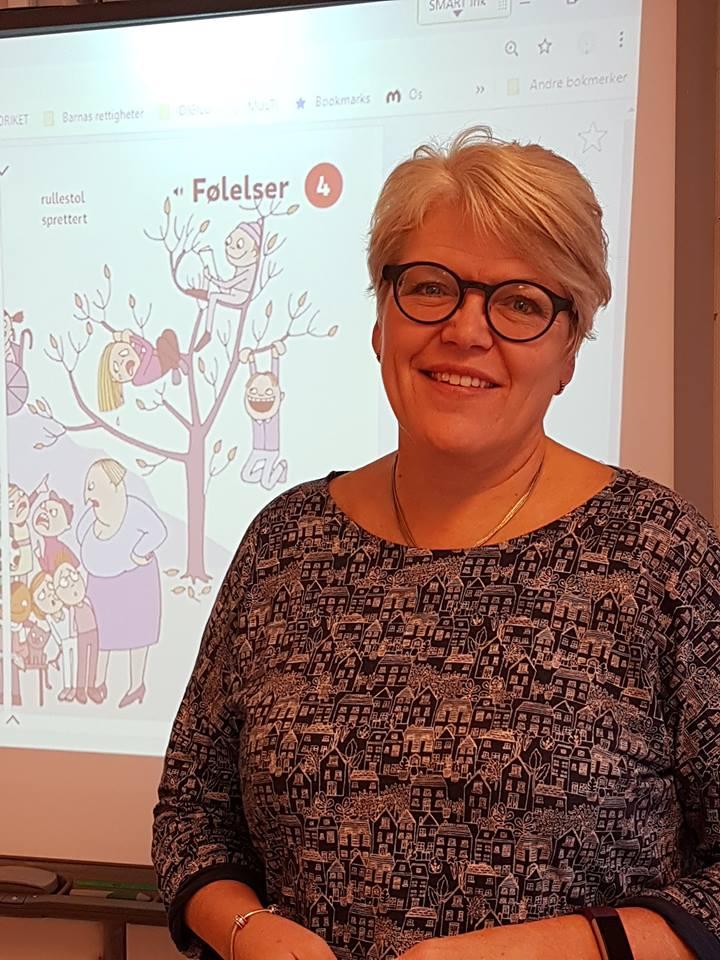 Ine Berit Mjølnerød, lærer på Os skole.