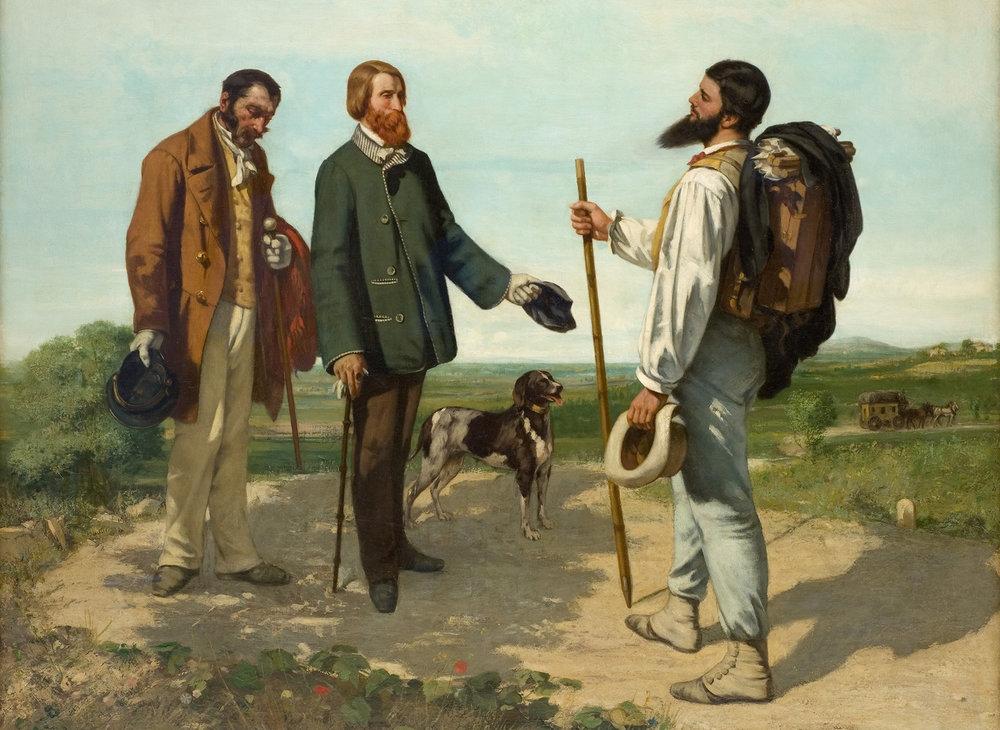 Gustave Courbet - Bonjour Monsieur Courbet - Musée Fabre 1854