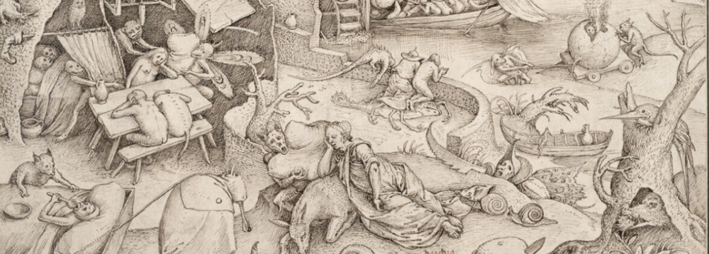 Desidia - Pieter Bruegel the Elder c.1556 - c.1560