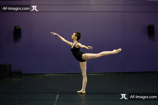 Dancer practicing in her studio, before retouching. Linthicum Heights, MD. (Copyright Angela Ferguson Photography)