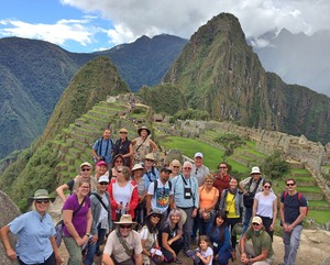 Group photo at Machu Picchu in 2016.