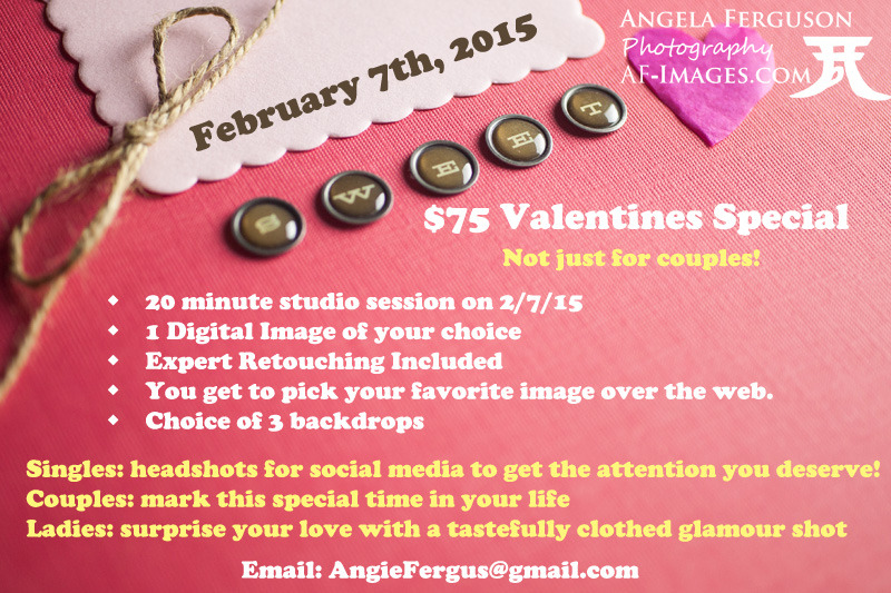 $75 Valentines Day Portrait Photography Special
