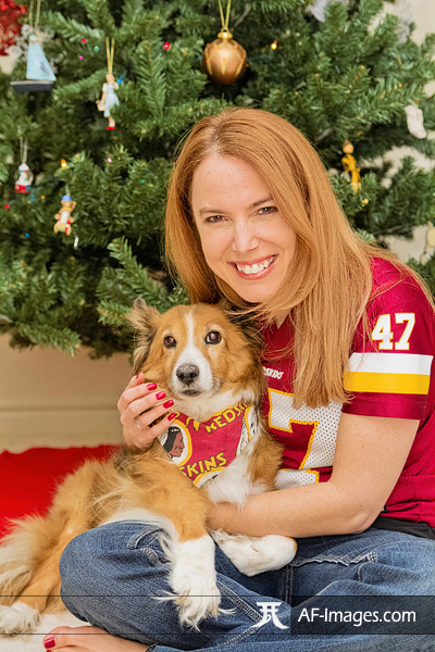 Christmas in DC, Pet Family Photograph by Angela Ferguson Photography.