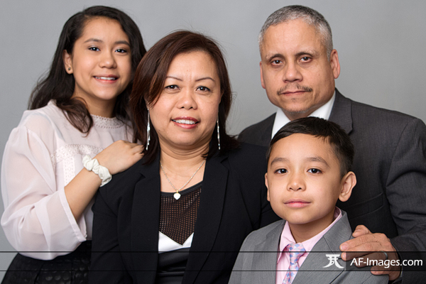 Family portrait photograph, before retouching. Glen Burnie, MD. (Copyright Angela Ferguson Photography)