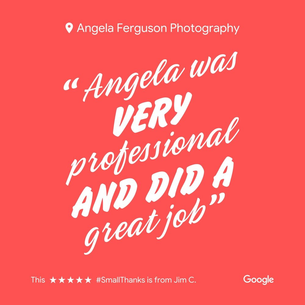 """Angela was VERY PROFESSIONAL and did a GREAT JOB"""