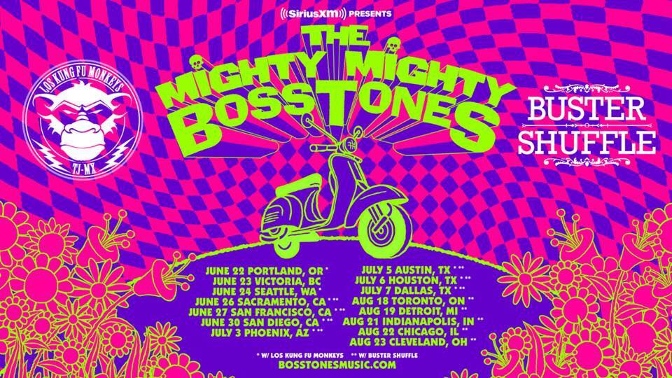 Super happy to announce that we will be touring The USA 🇺🇸 with Mighty Mighty Bosstones this Summer!! 👍🤘🏻☝️👊  Tix can be bought from the following!  Sacramento  https://www.eventbrite.com/e/siriusxm-presents-the-mighty-m…  San Francisco  http://www.ticketmaster.com/event/1C00547BE630AA3B  San Diego  http://www.ticketmaster.com/event/0A00547CCAE5454F  Phoenix  https://www.ticketweb.com/t3/sale/SaleEventDetail…  Austin  https://www.ticketweb.com/…/the-mighty-mighty-boss…/8274455…  Houston  http://www.ticketmaster.com/event/3A00547DB16A5FA3  Dallas  http://www.ticketmaster.com/event/0C005481BBC541E7  Toronto  http://www.ticketmaster.ca/event/1000547CFE4EC0A4  Detroit  http://www.ticketmaster.com/event/0800547DD212600D  Indy  https://www.ticketfly.com/purchase/event/1674168  Chicago  http://www.ticketmaster.com/event/0400547D090A64B9  Cleveland  http://www.ticketmaster.com/event/0500547CAC485C01
