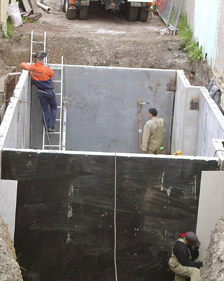 Concrete basement car park construction - Melbourne