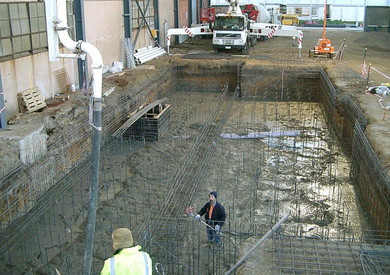 Concrete foundation pit Melbourne