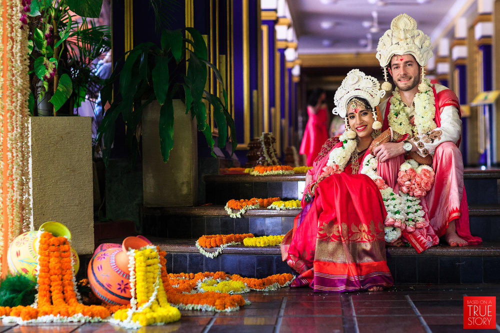 Amrita &Adam - an Indo-American cross cultural odiya wedding at The Mayflower Lagoon, Bhubaneswar