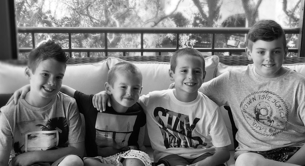 My favorite little fellas. - Dylan (10), Tate (5), Ryder (8) and Cooper (12)