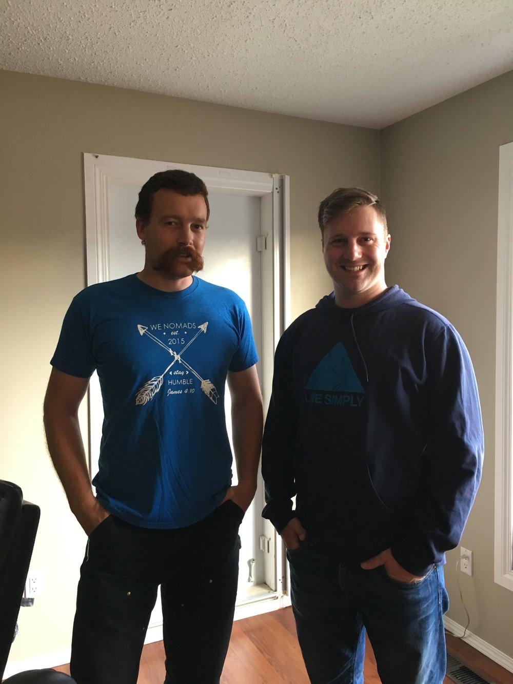 Luke gave John a new WeNomad shirt to wear!