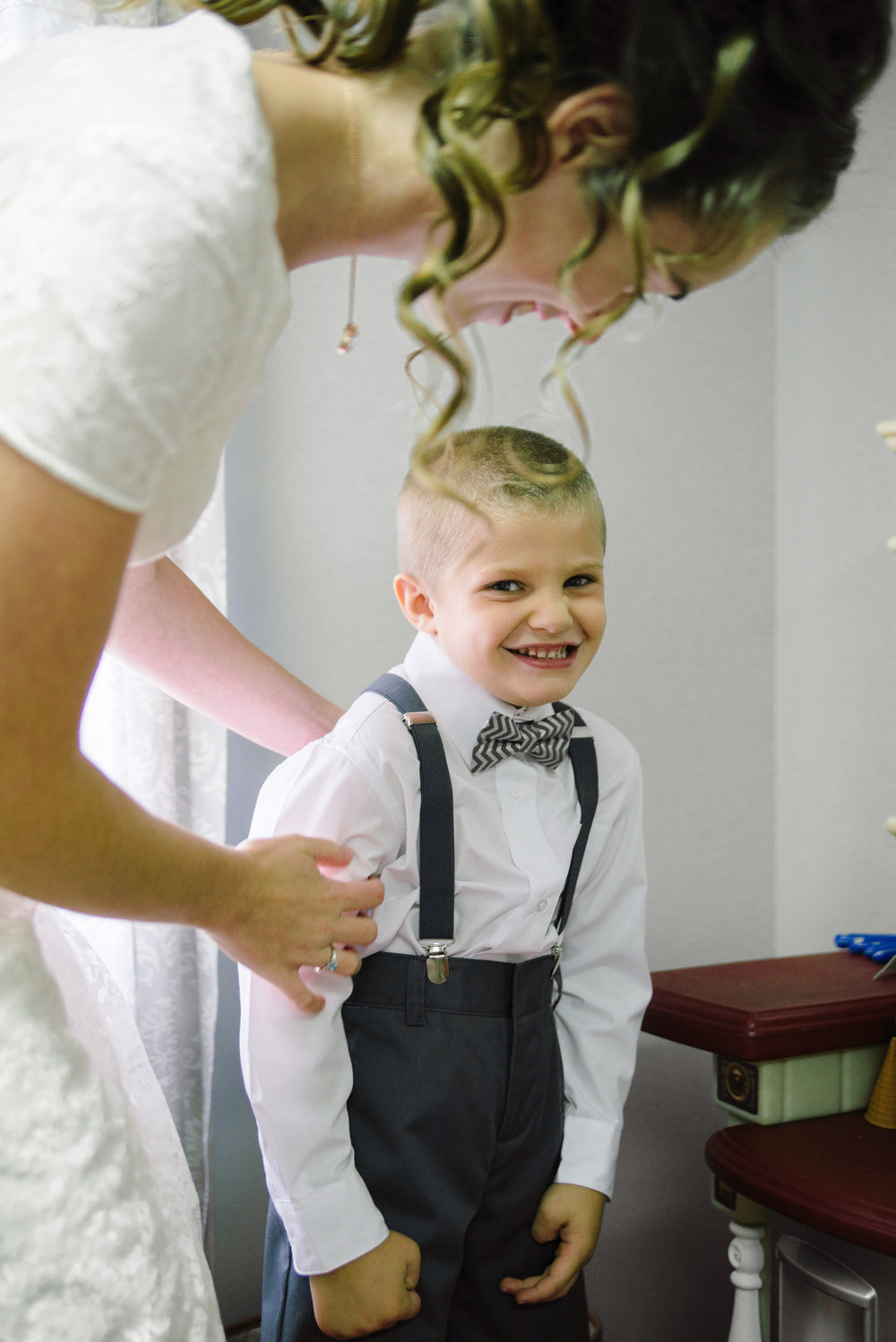 This mischievous fellow is our ring bearer