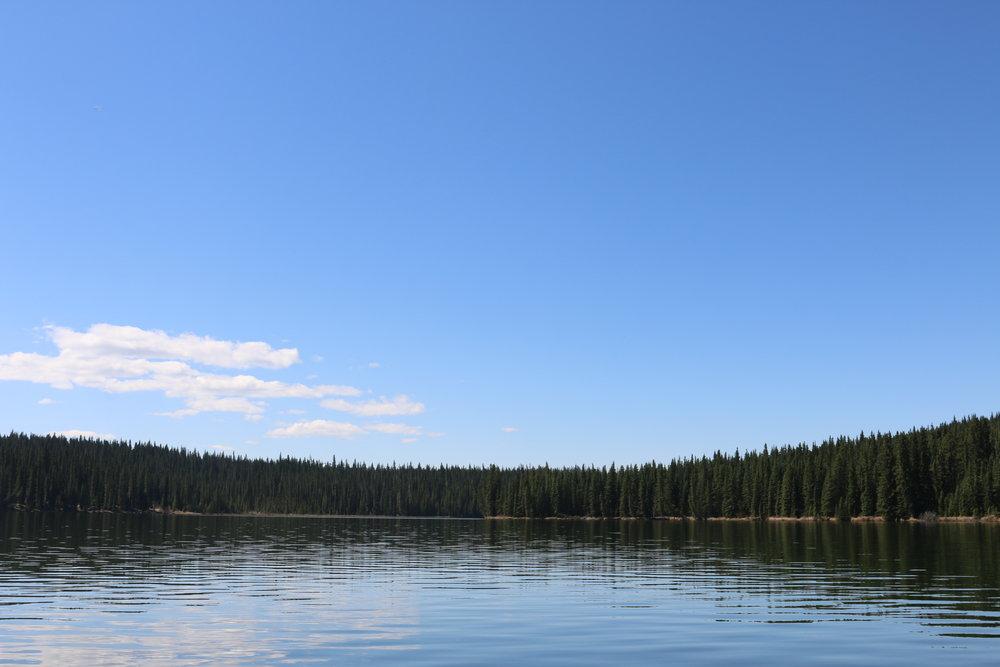 Fish Lake…where Linnea caught no fishes