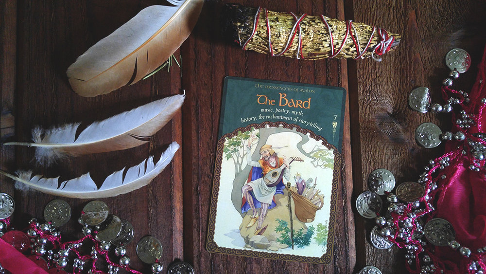 This card is from Colette Baron-Reid's The Wisdom of Avalon Oracle cards.