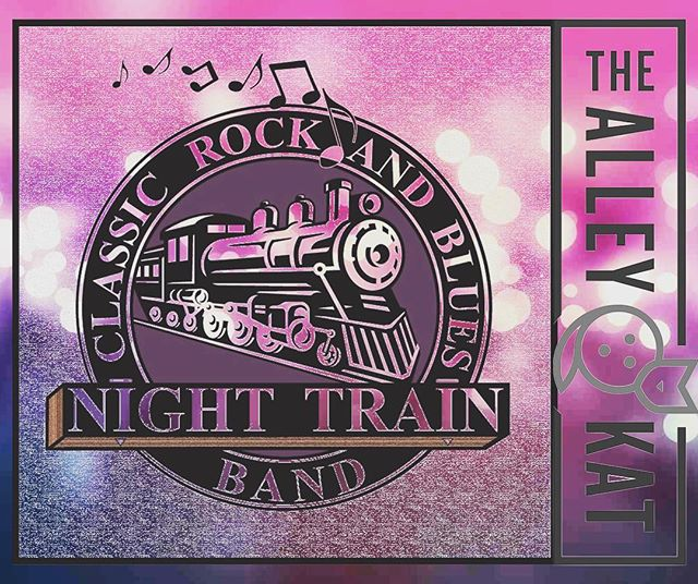 Check out the bluesy, rock vibe of Night Train!  Serving up #icecolddraftbeer #mixeddrinkspecials #gourmetwoodfiredpizza! Stop by and groove to some great #classicrock and #blues with #nighttrain at #thealleykatny