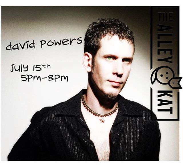 We got #acousticmusic crooner #davidpowers on #thealleykatny patio with #cocktails and #draftbeer #gourmetwoodfiredpizza