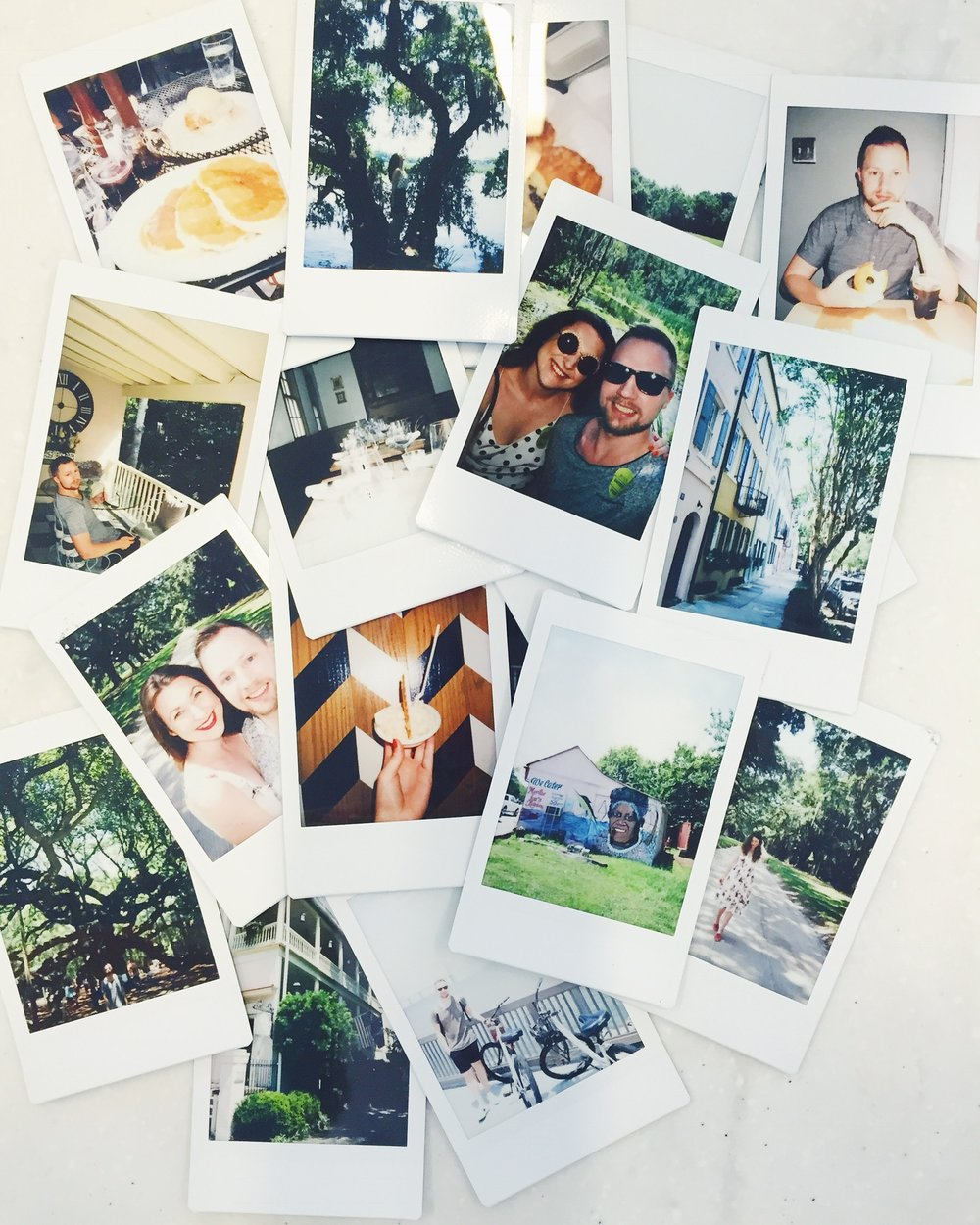 all the polariods! one of my favorite traditions for when we go on trips :)